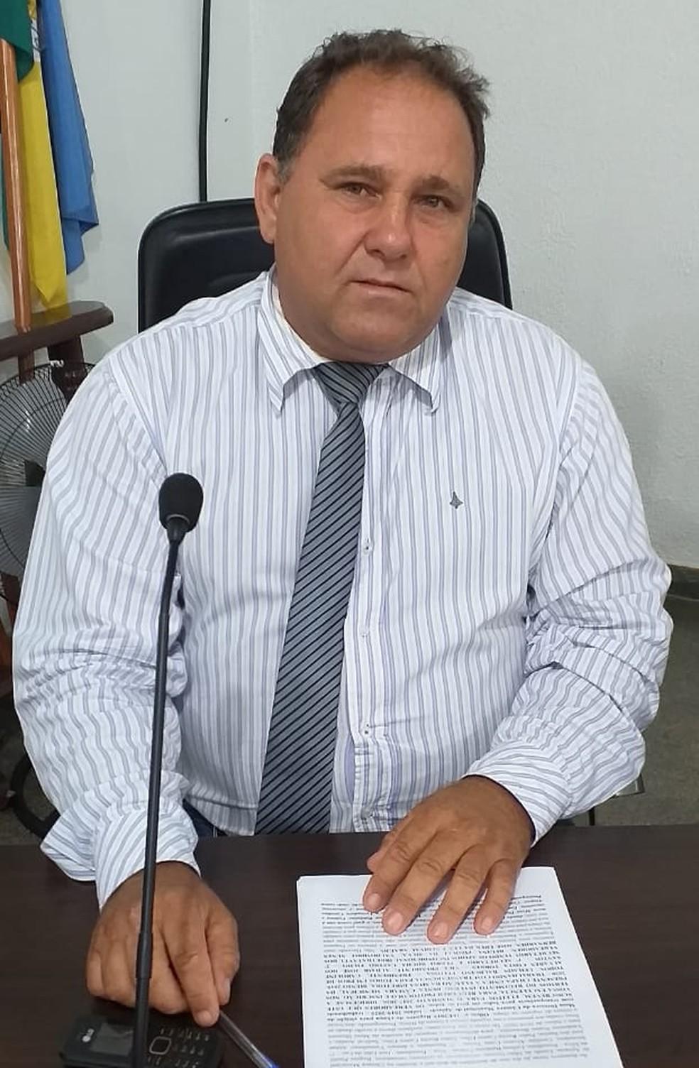 Vereador de Apiacás Sedeval Araujo, o Dinho. — Foto: Assessoria