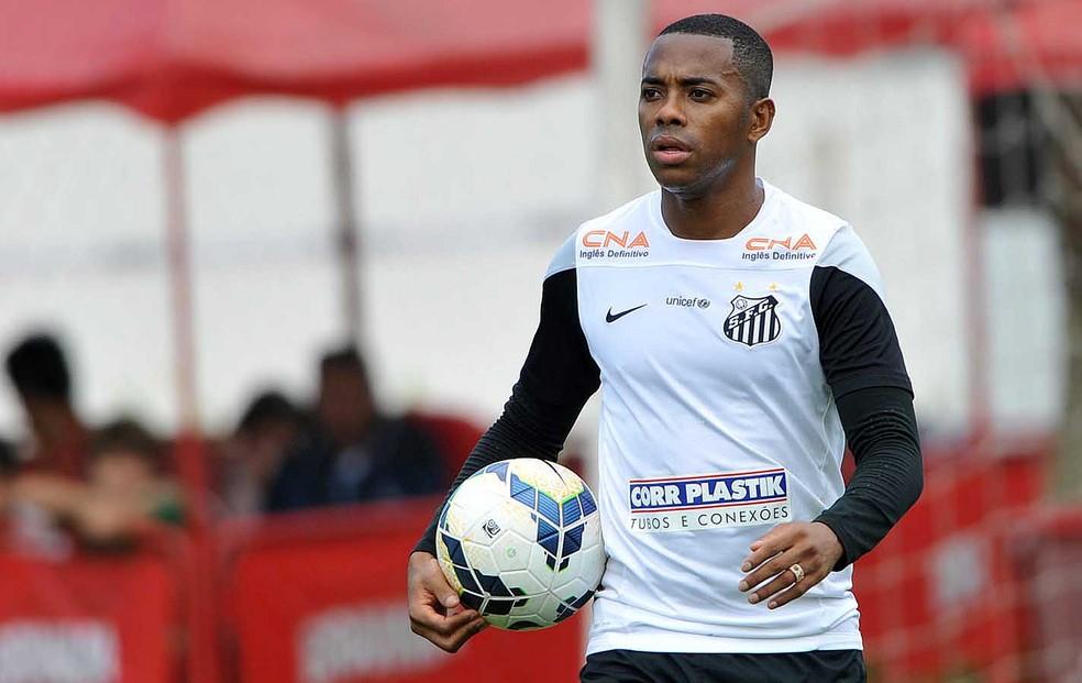 Robinho cobrou do Santos um valor que o presidente garantiu só