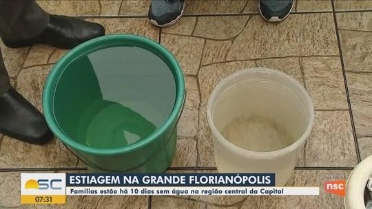 Chuva ajuda na recuperação de rios, mas volume foi insuficiente para reverter estiagem na Grande Florianópolis, diz Casan