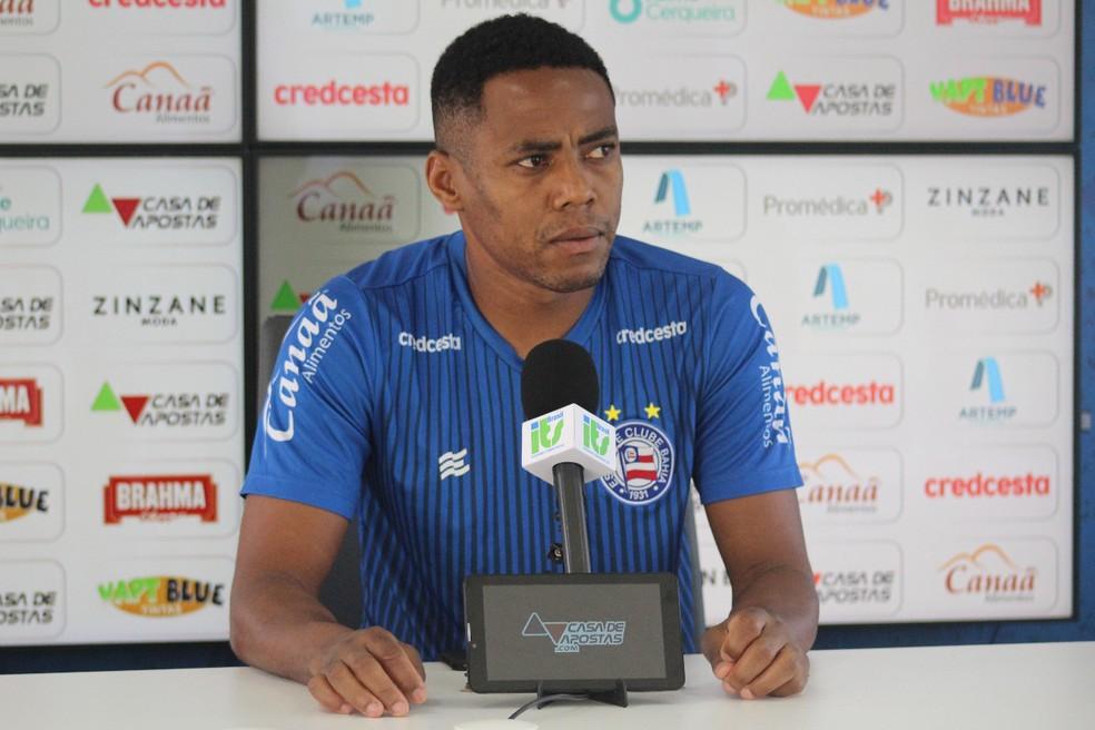 Elias fala sobre inconstância do Bahia e relação com Mano Menezes — Foto: Rafael Machaddo/EC Bahia