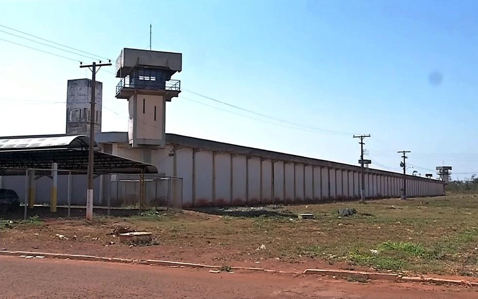 Preso estava na Penitenciária Major Eldo Sá Corrêa, a Mata Grande, em Rondonópolis (MT) — Foto: Reprodução/TVCA