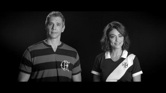 Márcio Garcia e Juliana Paes falam de respeito entre torcidas de futebol