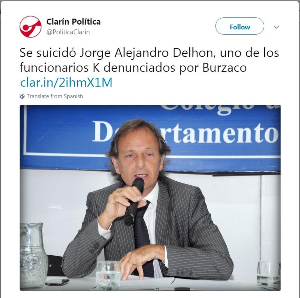 Resultado de imagem para Advogado argentino Jorge Delhon