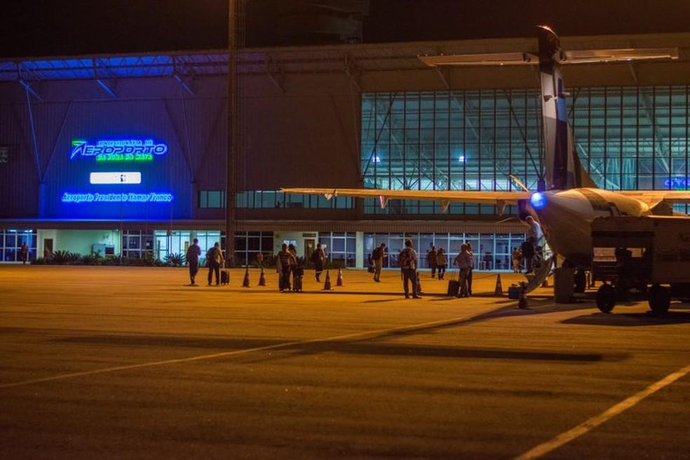 Por causa do impacto da paralisação dos caminhoneiros, alguns voos foram cancelados no Aeroporto Regional da Zona da Mata (Foto: Concessionária do Aeroporto da Zona da Mata/Divulgação)