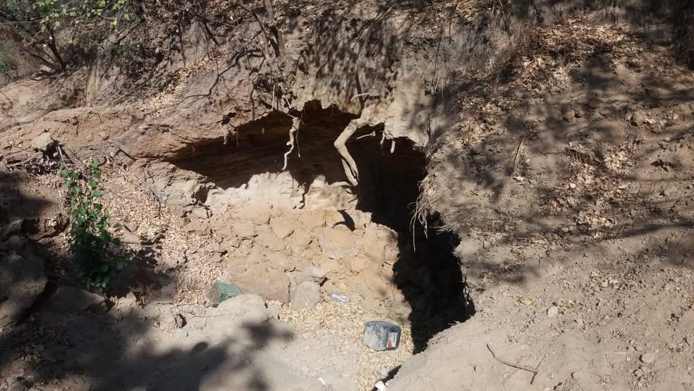Local onde o corpo foi encontrado — Foto: Corpo de Bombeiros / Divulgação