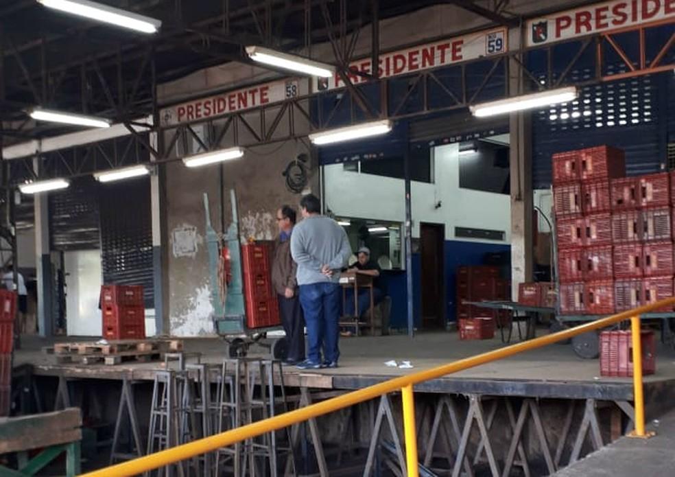 Ceasa em Maringá não teve comercialização de produtos na terça-feira (29) (Foto: Ceasa-PR/Divulgação)