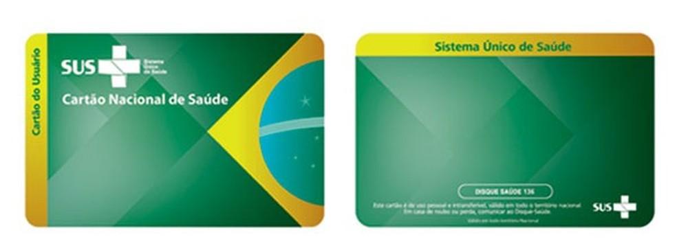 Cartão do SUS — Foto: Reprodução/Ministério da Saúde