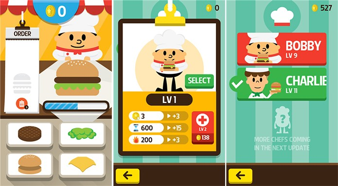 250K Chefes Burger ? um divertido game culin?rio para Windows Phone (Foto: Divulga??o/Windows Phone Store)