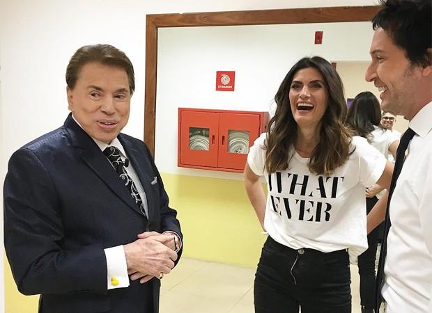 Silvio Santos, Isabella Fiorentino e Arlindo Grund (Foto: Reprodução/Instagram)