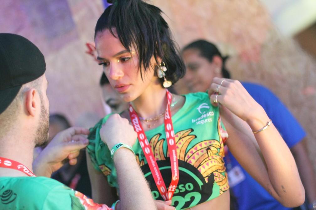Bruna Marquezine em camarote no carnaval de Salvador — Foto: Daniel Delmiro/AgNews