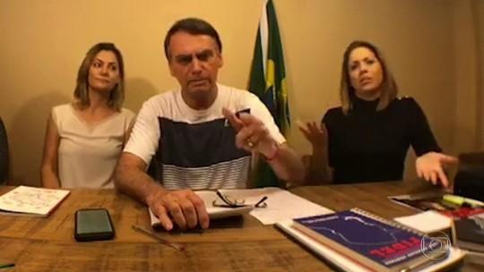 Bolsonaro critica os que dizem que ele oferece risco à democracia