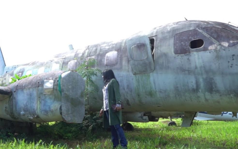 Dos nove aviões vistoriados, três estão em estado irrecuperável — Foto: Reprodução