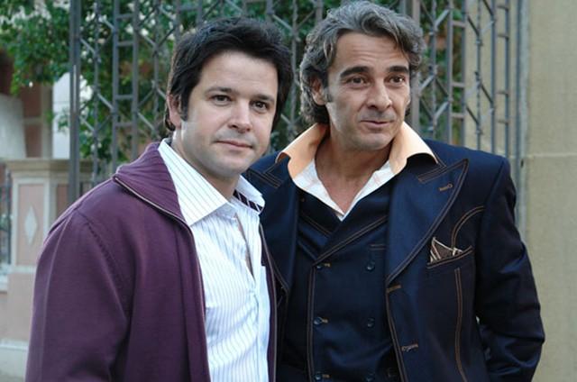 Murilo Benício e Alexandre Borges em 'Ti-ti-ti' (Foto: Globo)