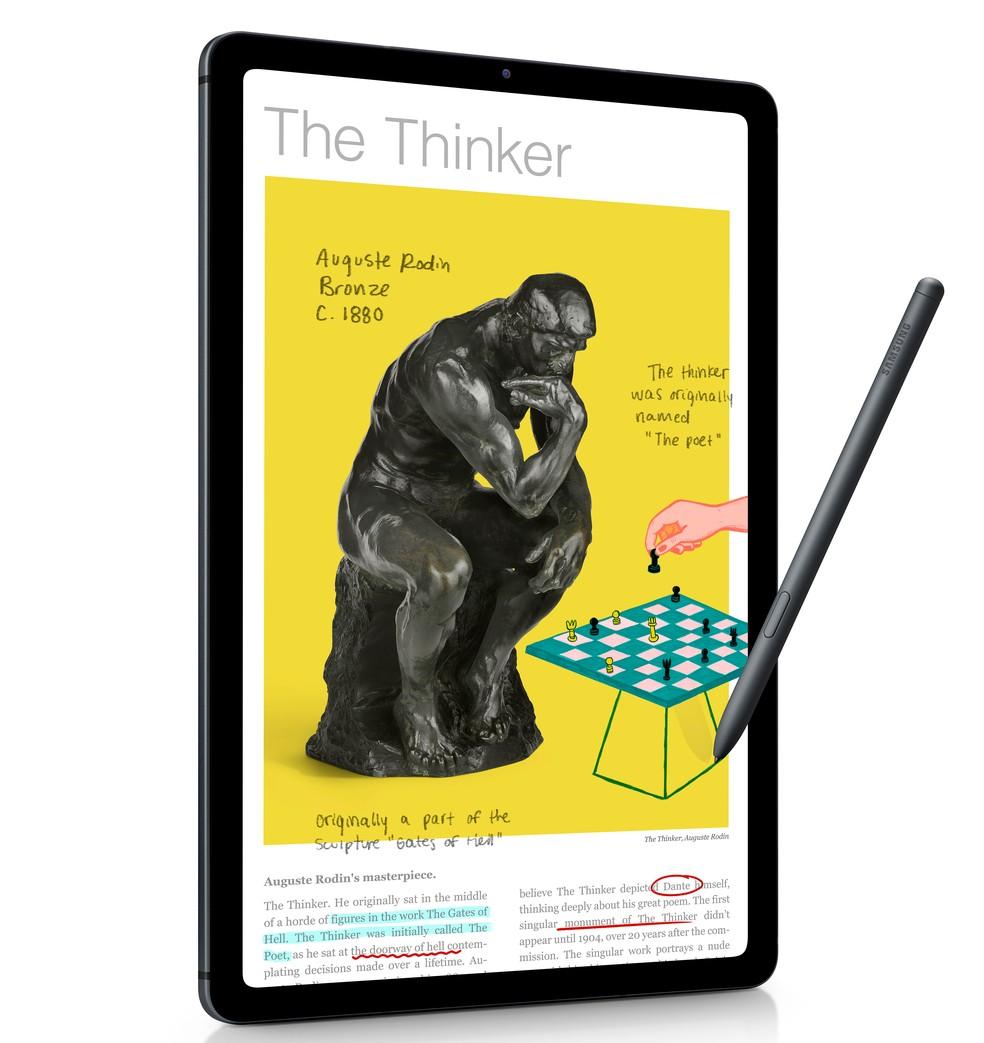 Galaxy Tab S6 Lite tem tela de 10,4 polegadas — Foto: Divulgação/Samsung