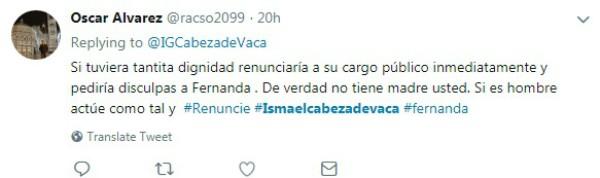 Mexicanos querem que Oscar Alvarez renuncie ao cargo de senador (Foto: Reprodução Twitter )