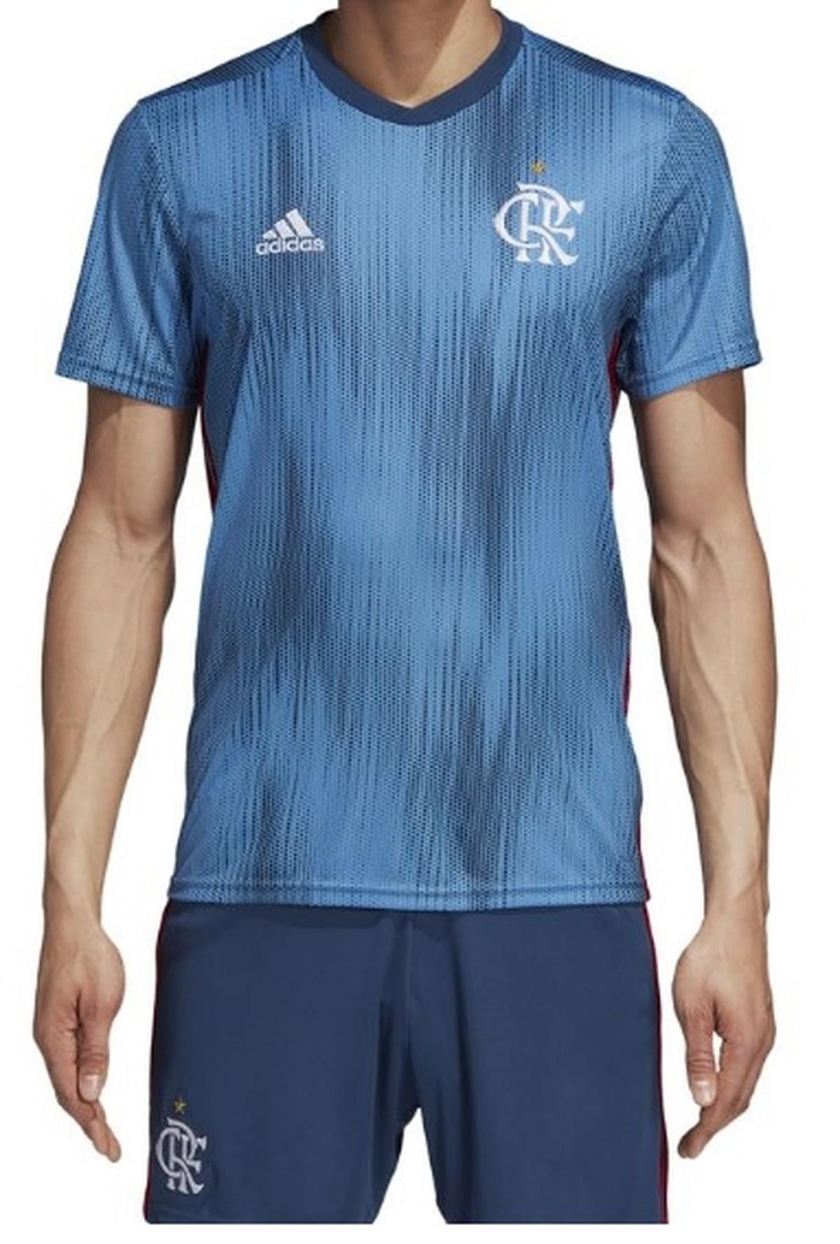 bae1294102 Flamengo lança terceiro uniforme azul feito de plástico reciclável  confira
