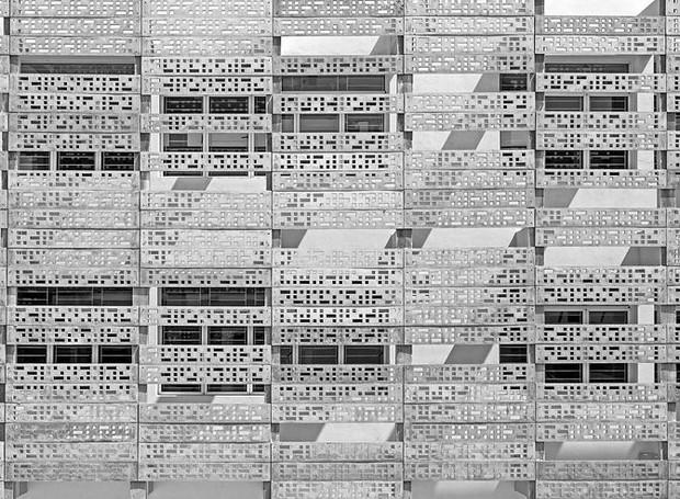 B.R.S.Sreenag, da Índia, registrou a pele de concreto de edifício assinado por KSM Architecture em seu país de origem (Foto: Architectural Photography Awards/Reprodução)