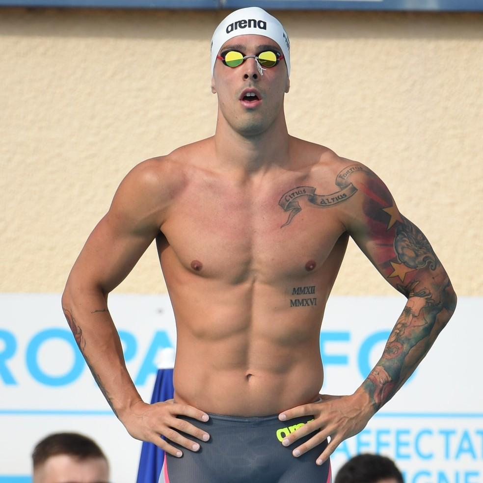 Bruno Fratus, da natação — Foto: Stephane Kempinaire