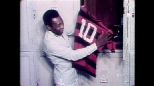 Há 40 anos, Pelé vestia a camisa 10 do Flamengo no Maracanã