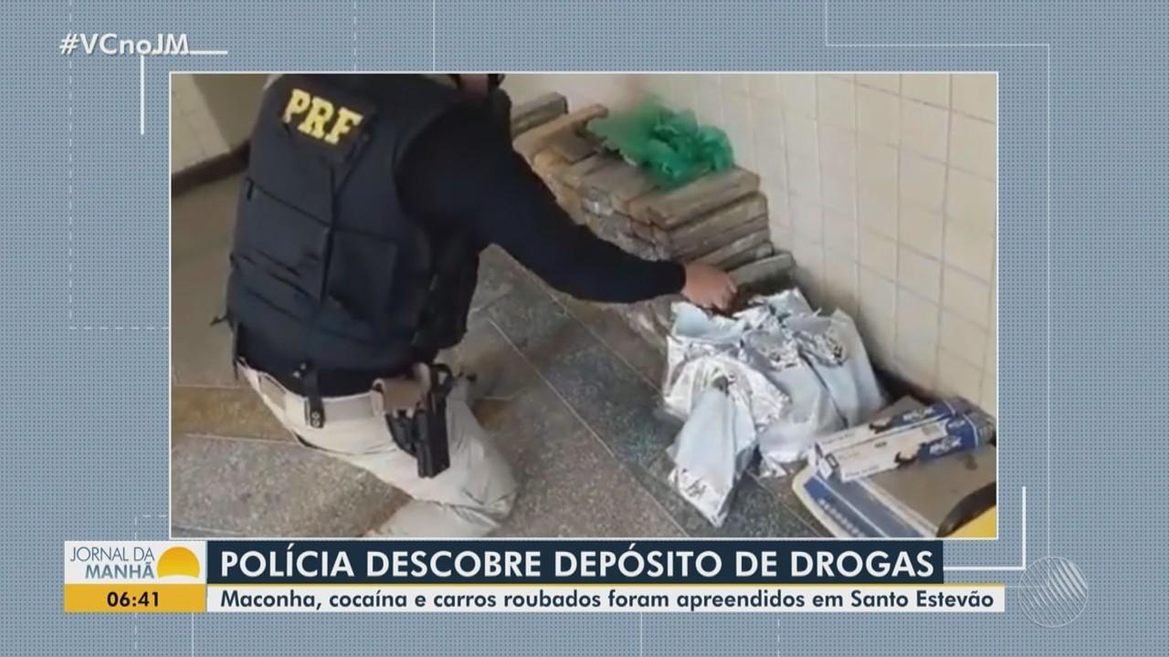 Operação policial apreende drogas e carros roubados na zona rural de Santo Estevão