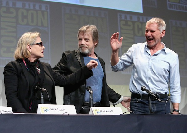 Mark Hamill, Carrie Fisher e Harrison Ford (Foto: Getty Images)