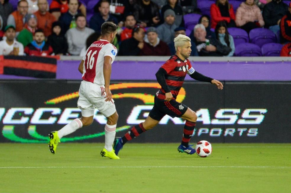 Flamengo enfrentou o Ajax na primeira rodada  — Foto: Alexandre Vidal/Flamengo