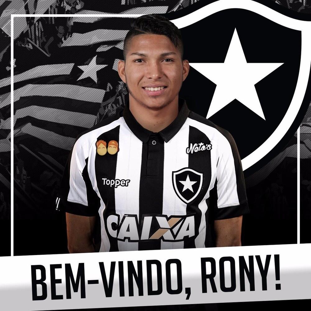 Agora é oficial: Botafogo anuncia a contratação de Rony