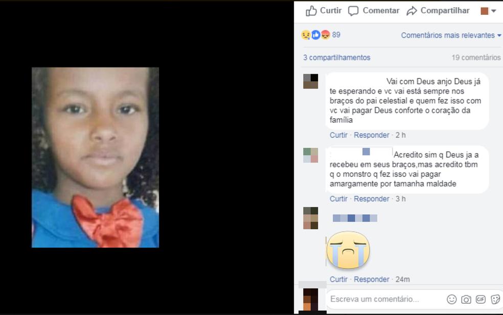 Criança de 11 anos foi morta a pauladas enquanto ia para a escola, no sudoeste da Bahia (Foto: Reprodução/ Redes Sociais)