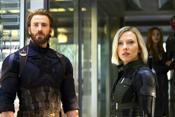 A atriz Scarlett Johansson em cena de Vingadores: Guerra Infinita (Foto: Reprodução)