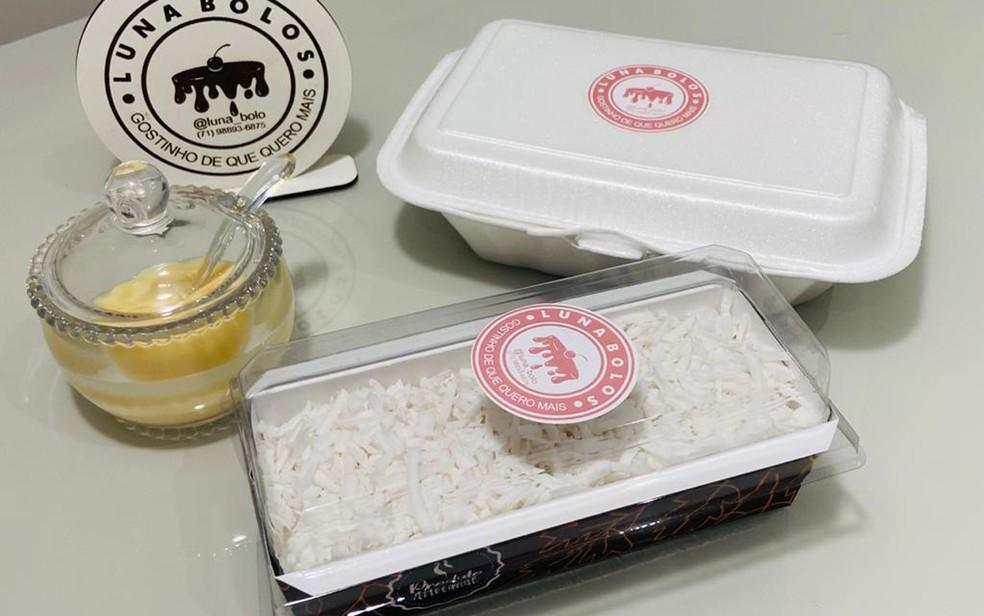 Cuscuz de tapioca já pronto, uma boa opção para o a mesa junina — Foto: Arquivo Pessoal