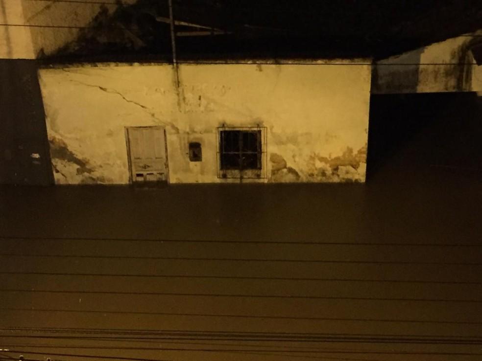 Alagamento em Brusque — Foto: Prefeitura de Brusque/Divulgação