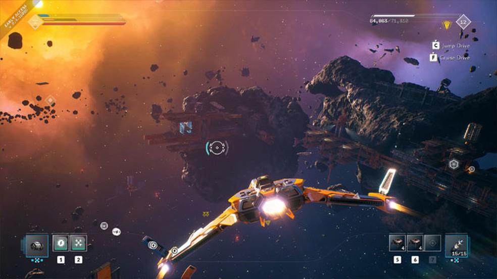 Everspace 2 promete expandir os conceitos do primeiro jogo com uma nova proposta em Acesso Antecipado — Foto: Reprodução/Steam