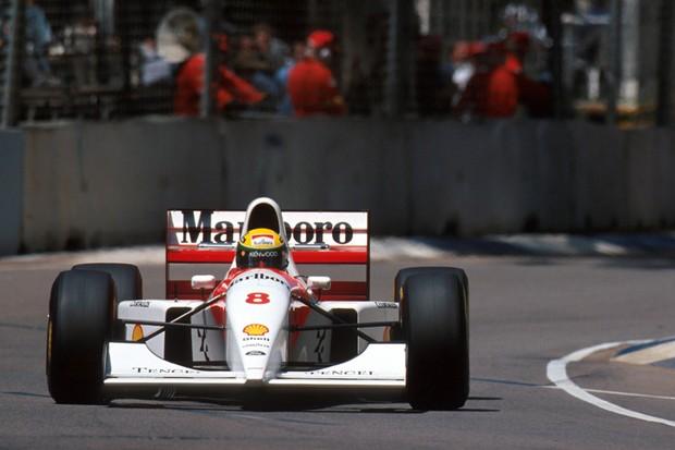 Vitória na Austrália foi a 35ª de Senna com a McLaren (Foto: Divulgação)