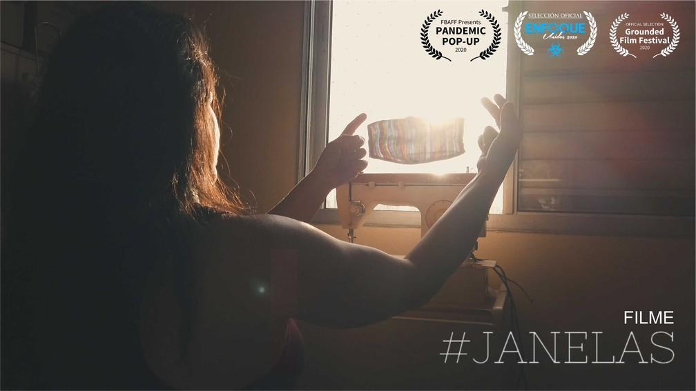 """Curata-metragem """"#Janelas"""" ganhou prêmio 1ª Lugar na categoria """"Eu me vejo"""" e o terceiro lugar na categoria trilha sonora, no Festival Quarentena On Line Film Festival do Rio de Janeiro — Foto: Divulgação"""