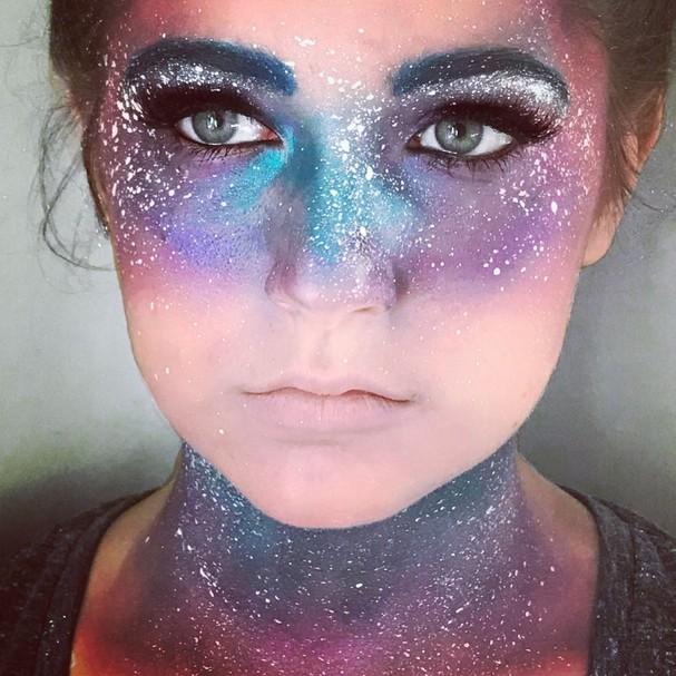 Maquiagem galáxia (Foto: Reprodução/Instagram)