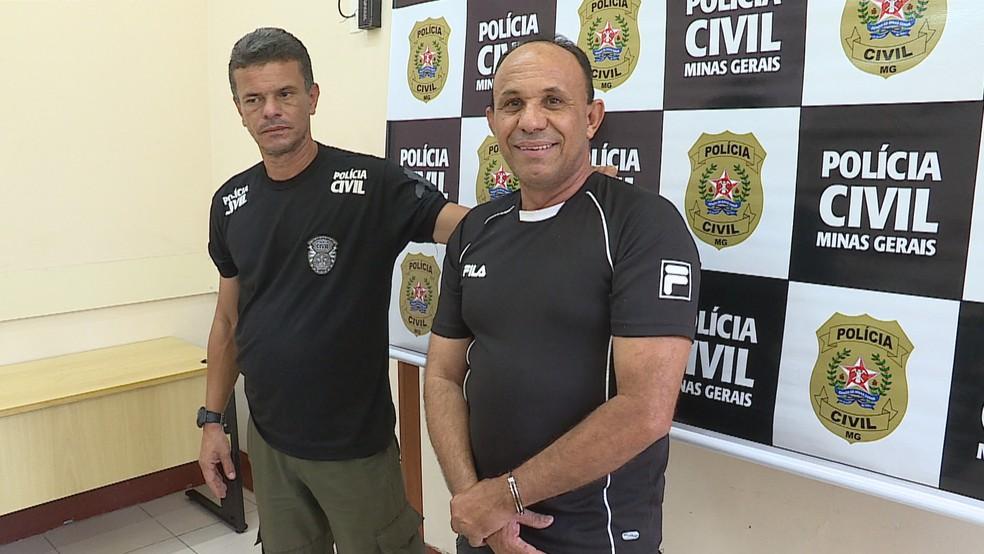 O ex-policial militar Laercio Soares de Melo, de 55 anos, foi preso em Contagem — Foto: Reprodução/TV Globo
