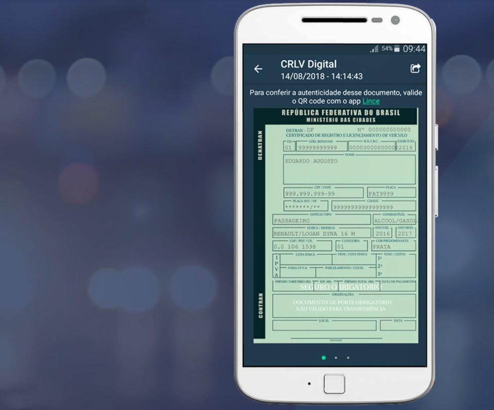 72288538bf Documento do carro em versão digital chega ao Ceará após lançamento ...
