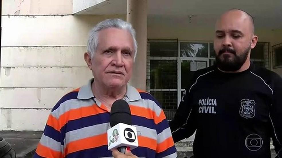 Médico e prefeito afastado de Uruburetama pediu desculpas às mulheres que o denunciam por estupro — Foto: TV Globo/Reprodução