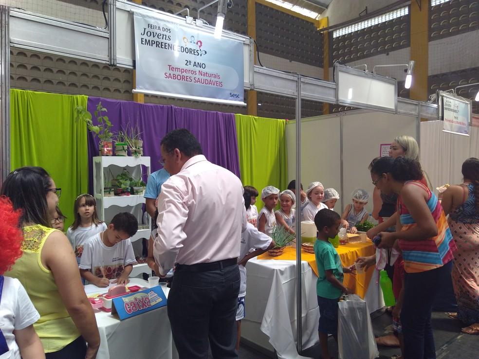 2ª edição da Feira Jovens Empreendedores Primeiros Passos (JEPP) é realizada em Arcoverde — Foto: Assessoria/Divulgação