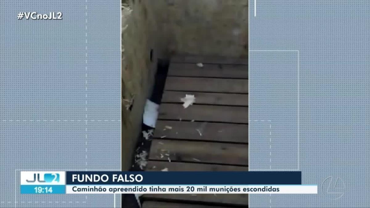 Caminhão apreendido em Altamira, no PA, tinha 20 mil munições atrás de fundo falso, diz perícia