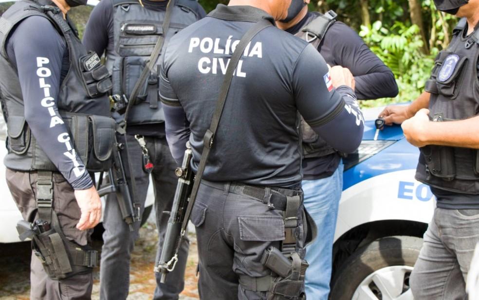 Homem preso é investigado por homicídios na cidade de Dias D'ávila — Foto: Haeckel Dias/Polícia Civil