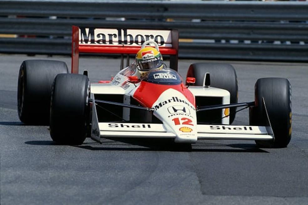 Senna aniquilou Prost nos treinos do GP de Mônaco de 1988 (Foto: Getty Images)