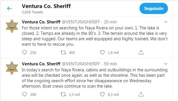 Orientações da polícia de Ventura (Foto: Reprodução/Twitter)