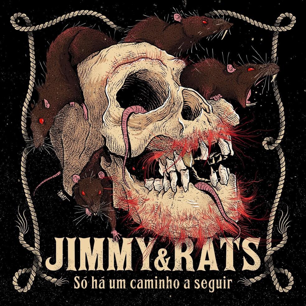 Capa do álbum 'Só há um caminho a seguir', de Jimmy & Rats — Foto: Ilustração de Paul Rocker