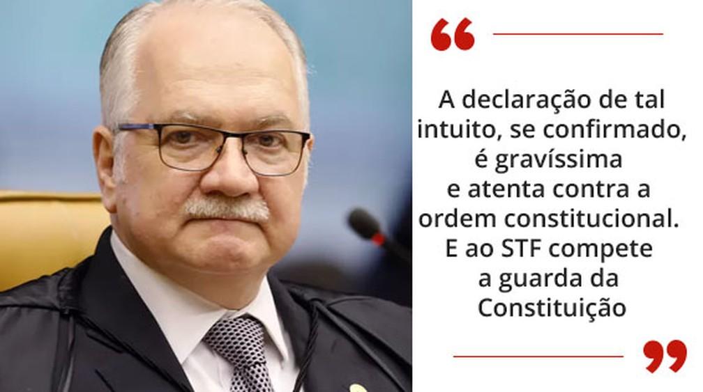 Fachin selo home — Foto: Divulgação/STF