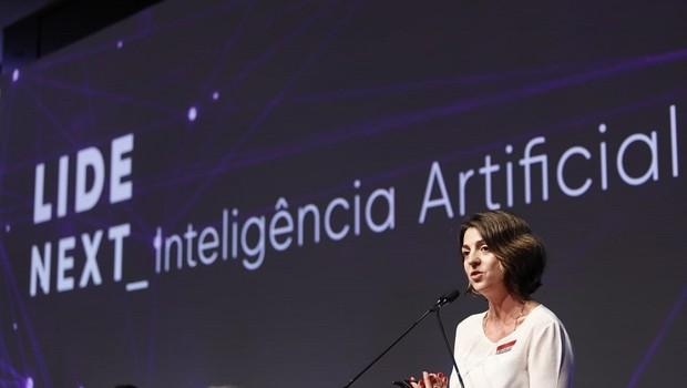 Paula Bellizia, presidente da Microsoft Brasil, durante o evento LIDE NEXT (Foto: Gustavo Rampini)