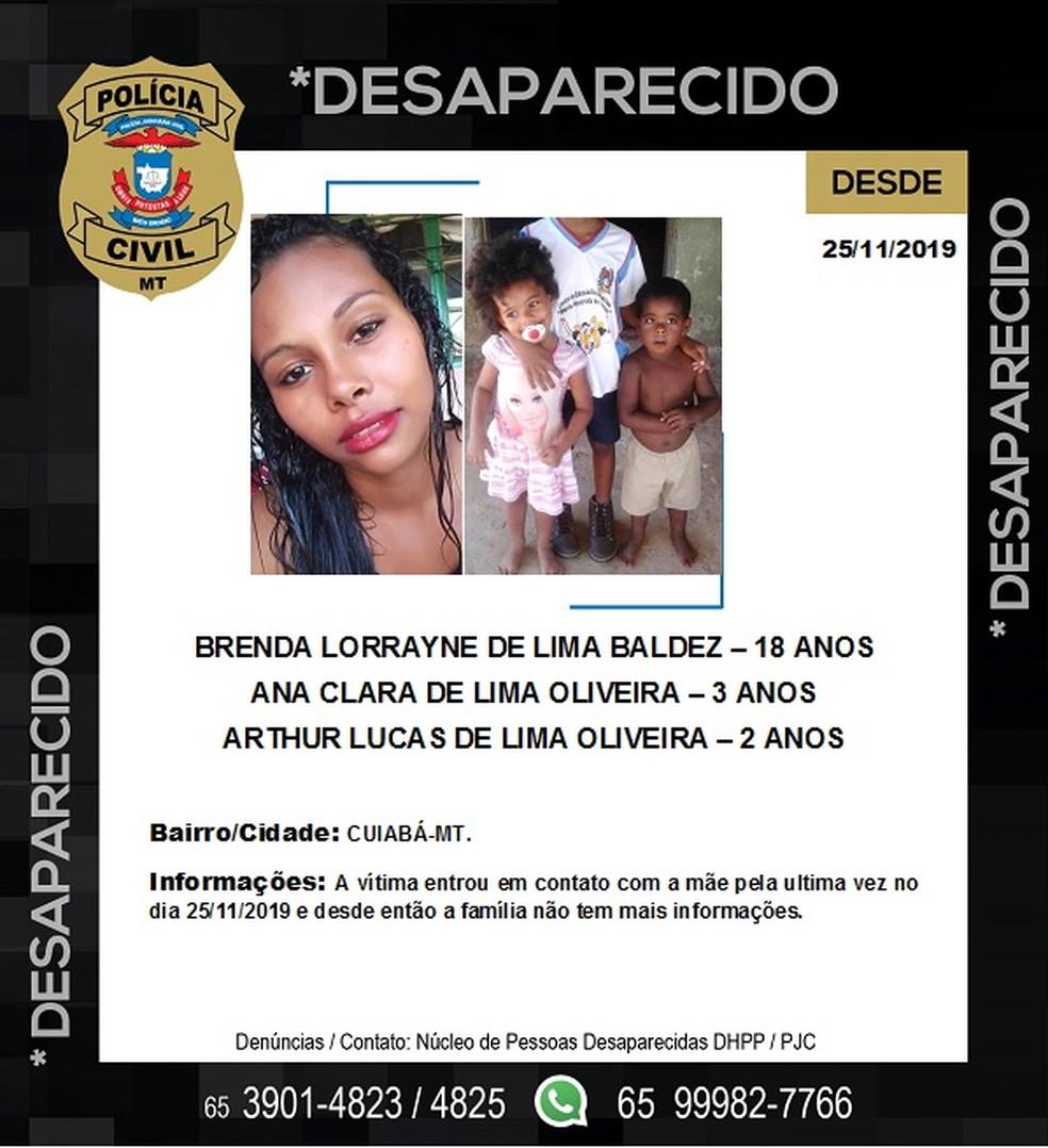 Família está desaparecida há 11 dias — Foto: Divulgação