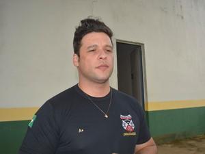 Delegado Rodrigo Camargo (Foto: Franciele do Vale/ G1)