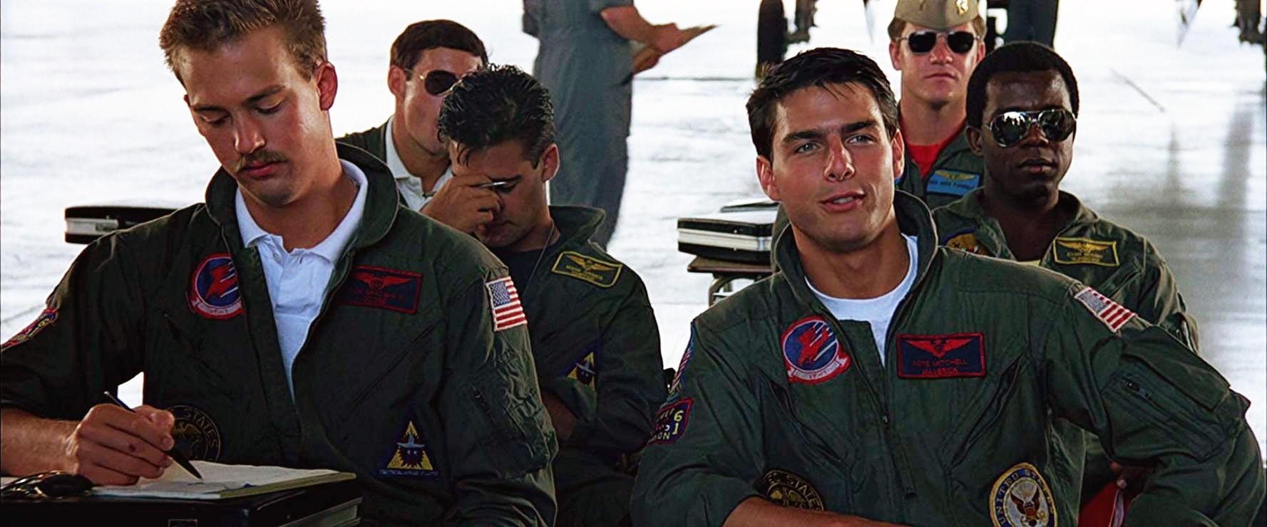 Tom Cruise e Anthony Edwards em Top Gun: Ases Indomáveis (1986) (Foto: Divulgação)