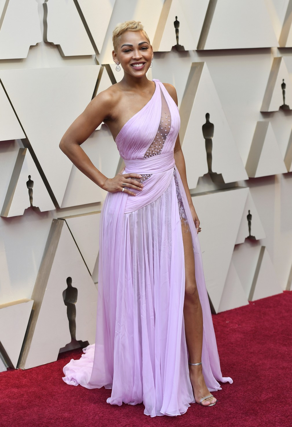 Meagan Good no tapete vermelho do Oscar 2019 — Foto: Jordan Strauss/Invision/AP